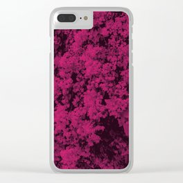Wall of Pink Flowers. Clear iPhone Case