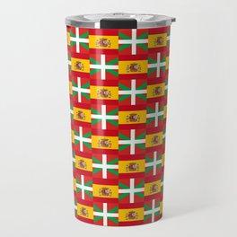 mix of flag: spain and euskal herria Travel Mug