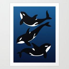Orca whale Art Print