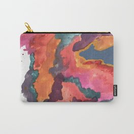 Carnival: a vibrant mixed media piece inspired by New Orleans Carry-All Pouch