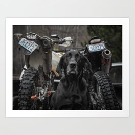 Annabelle and Dirt Bikes Art Print