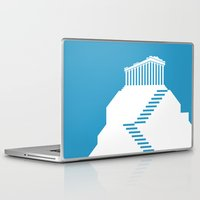 greece Laptop & iPad Skins featuring GREECE by Marcus Wild