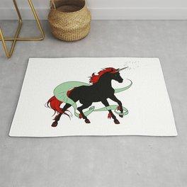 Magical Unicorn (Black and Red) Rug