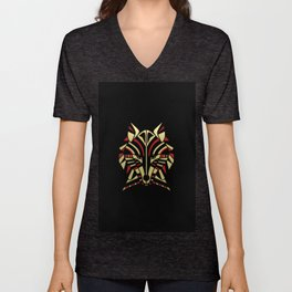 Coyote Trickster Tribal Art Totem Unisex V-Neck