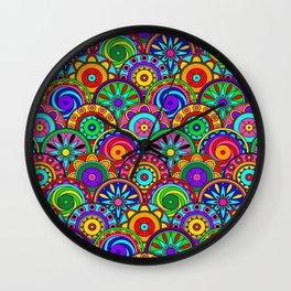 Merry Circles Wall Clock
