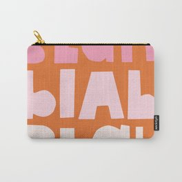 Blah Blah Blah   Pink & Orange Carry-All Pouch