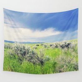Sagebrush Steppe Before the Storm Wall Tapestry