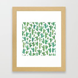 Cactus Pattern. Framed Art Print