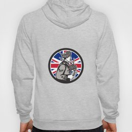 British Bagpiper Union Jack Flag Icon Hoody