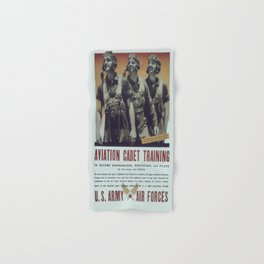 Vintage poster - Aviation Cadet Training Hand & Bath Towel
