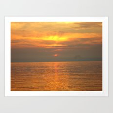 Rovigno Sunset Art Print