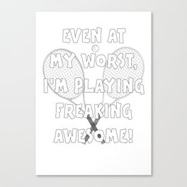 Tennis Lifestyle awesome present Canvas Print