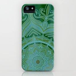 Green Swirl Mandala II iPhone Case