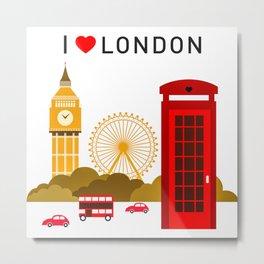 I Love London Metal Print