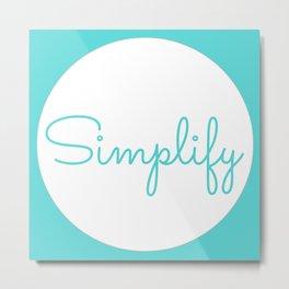 Blue Simplify Metal Print
