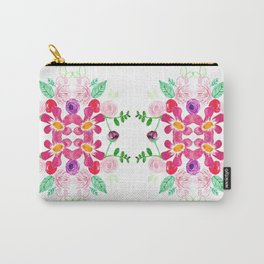 Floral Tile Carry-All Pouch