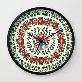 Floral Fabric Vintage Gift Pattern #9 Wall Clock