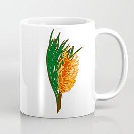 Australian Native Floral Illustration - Beautiful Banksia Flower Coffee Mug