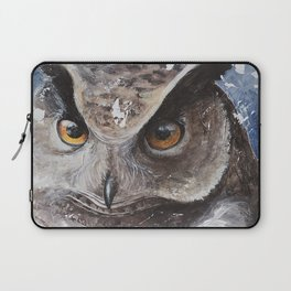 """The Owl - """"Watch-me!"""" - Animal - by LiliFlore Laptop Sleeve"""
