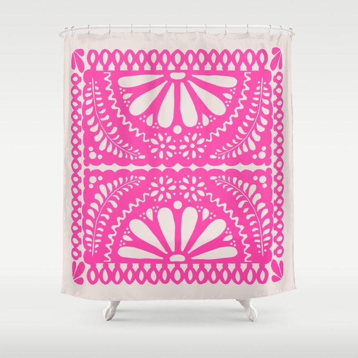 Fiesta De Flores Pink Shower Curtain