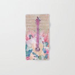 Floral Guitar Hand & Bath Towel