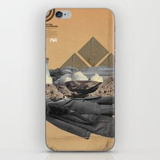 The future a time to reminisce. (mixed media) iPhone Skin