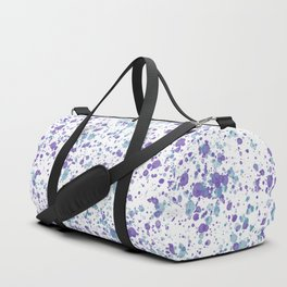 Watercolor Ultra Violet Splattering Dog Lovers Duffle Bag