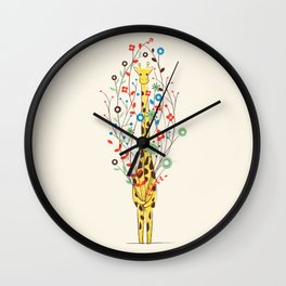 I Brought You These Flowers Wall Clock