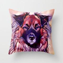 The Eurasian Dog Throw Pillow