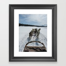 dogsledding in Northern California Framed Art Print