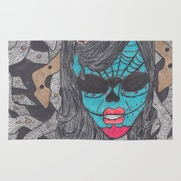 Day of the Dead Medusa Rug