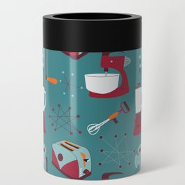 Retro Kitchen - Teal and Raspberry Can Cooler