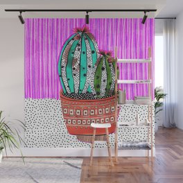 Cactus Collage by Veronique de Jong Wall Mural