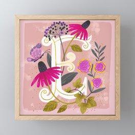 Artsy Alphabet: E Framed Mini Art Print