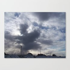 Witch in the clouds Canvas Print