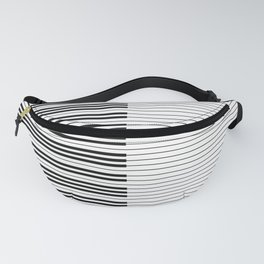 The Piano Black and White Keyboard with Horizontal Stripes Fanny Pack