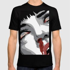 There goes mrs. Mia Wallace MEDIUM Black Mens Fitted Tee
