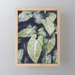 Jungle leaf - vintage Framed Mini Art Print