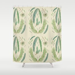 Pine Bough Study Shower Curtain