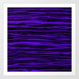 Blue Violet Abstract Stripes Art Print