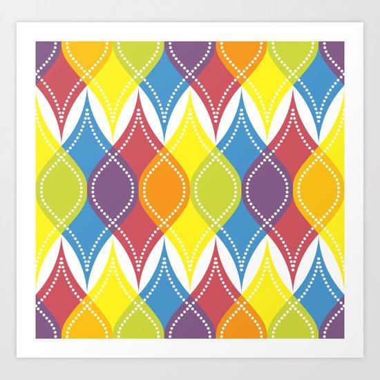 Rainbow Baubles Art Print