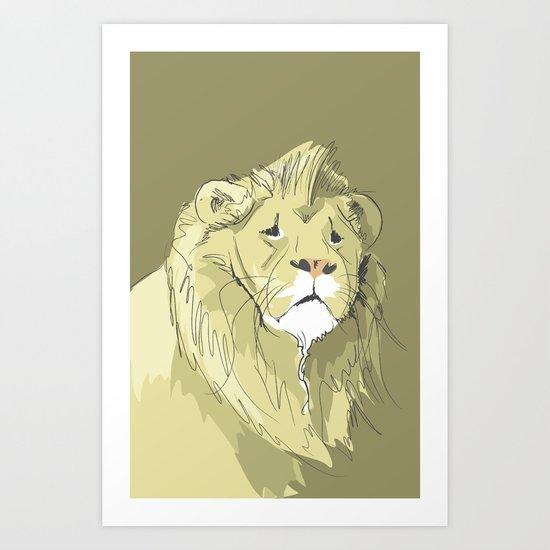 The Sad Lion Art Print