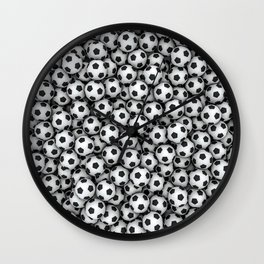 Soccer balls Wall Clock