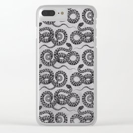 Silver Serpent snake Clear iPhone Case