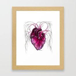 Buttefly Heart Pink Framed Art Print