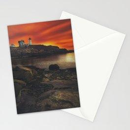 Maine Lighthouse Sunrise Stationery Cards