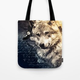 Vintage wolf, Mixed media Wolf Art, Wolf Painting, Wolf Decor, Best Wolf, Cool, Wolf Tote Bag