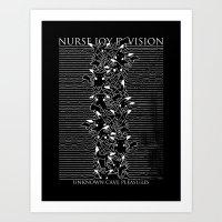 joy division Art Prints featuring Nurse Joy Division by Tobe Fonseca