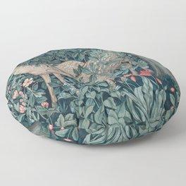 William Morris Forest Deer Floor Pillow