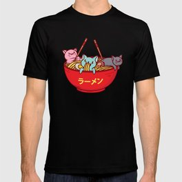 Kawaii Anime Cat Shirt - Funny Adorable Japanese Illustration T-shirt